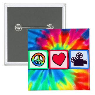 Peace Love Movies Pin