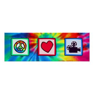 Peace Love Movies Poster