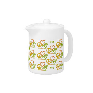Peace Love Music custom teapot