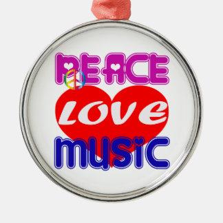 Peace Love Music Ornaments