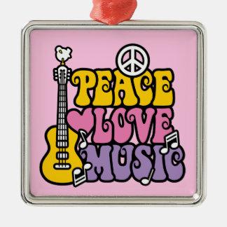 Peace-Love-Music Christmas Tree Ornament