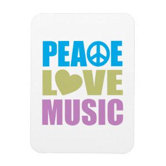 Peace Love Music Flexible Magnets