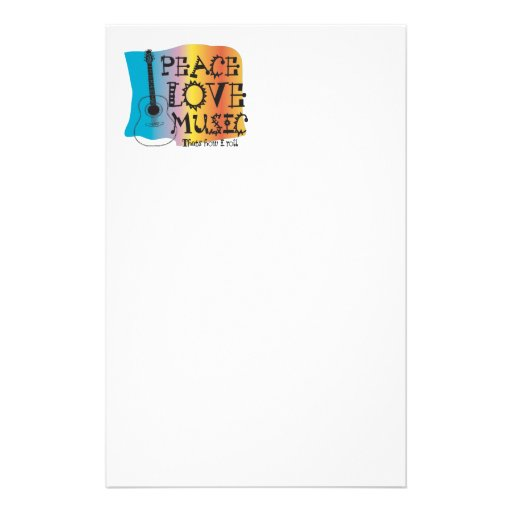 Peace Love Music Stationery