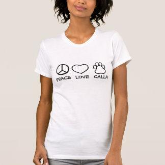 Peace, Love, My Dog (Customizable) T-Shirt