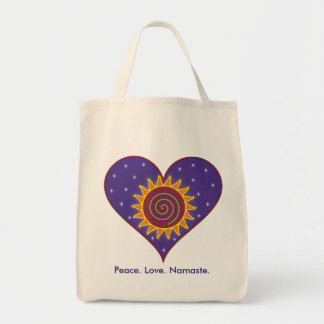 Peace. Love. Namaste. Grocery Tote