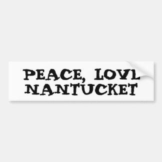 Peace Love Nantucket sticker