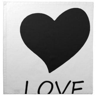 peace love napkin