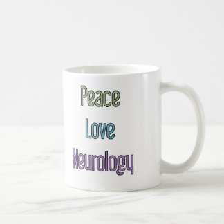 Peace, Love, Neurology Coffee Mug