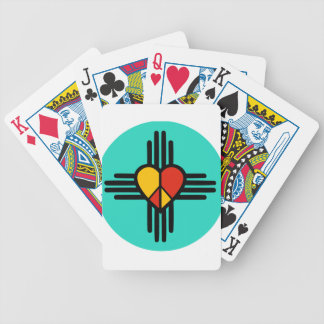 Peace Love New Mexico Bicycle Playing Cards