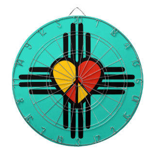 Peace Love New Mexico Dartboard With Darts