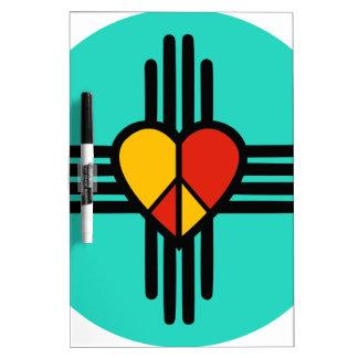 Peace Love New Mexico Dry Erase White Board