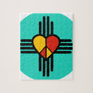 Peace Love New Mexico Puzzle