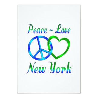 Peace Love New York Custom Invitation