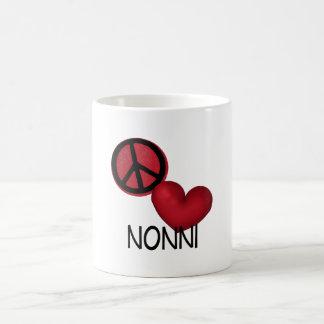 Peace Love Nonni Coffee Mugs