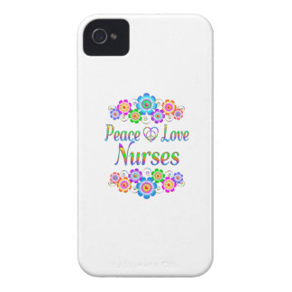 Peace Love Nurses Flowers iPhone 4 Cover