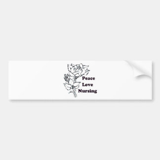 Peace, Love, Nursing Bumper Sticker