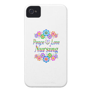 Peace Love Nursing Flowers iPhone 4 Cases