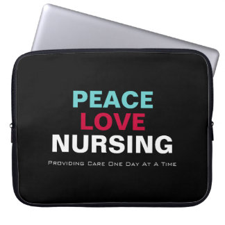 Peace Love Nursing Premium Laptop Sleeve