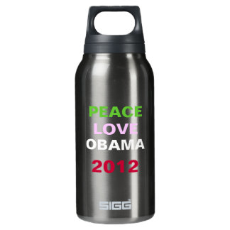 Peace Love OBAMA 2012 Campaign 0.3L Insulated SIGG Thermos Water Bottle