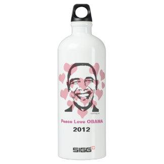 Peace Love OBAMA 2012 Custom SIGG Traveller 1.0L Water Bottle