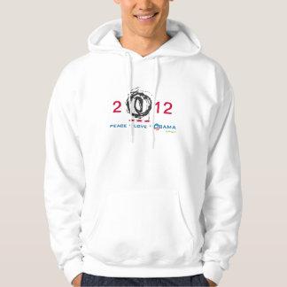 Peace Love OBAMA 2012 Mod Campaign Hoodie