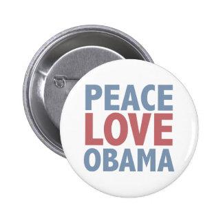 Peace Love  Obama 6 Cm Round Badge