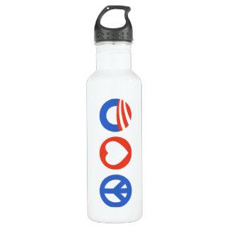 Peace Love Obama 710 Ml Water Bottle