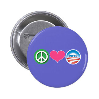 Peace Love Obama Buttons