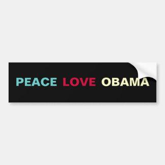 Peace Love OBAMA Bumper Sticker Car Bumper Sticker
