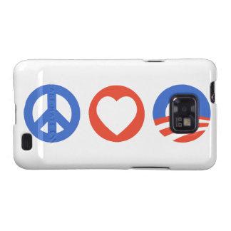 Peace Love Obama Samsung Galaxy Cases