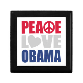 Peace Love Obama Trinket Boxes