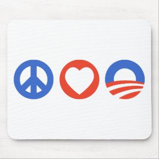 Peace Love Obama Mouse Pad