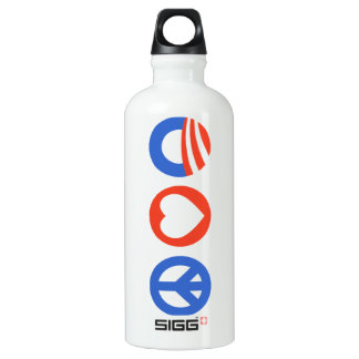 Peace Love Obama SIGG Traveller 0.6L Water Bottle