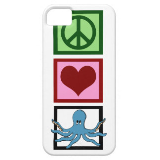Peace Love Octopus Case For The iPhone 5