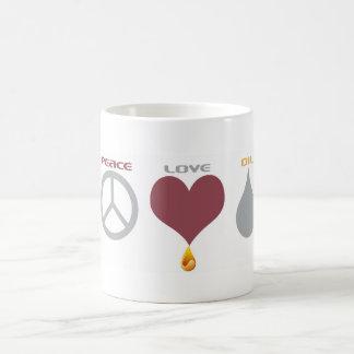 Peace Love Oil 2 Coffee Mug