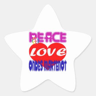 Peace Love Ondes-Martenot Sticker