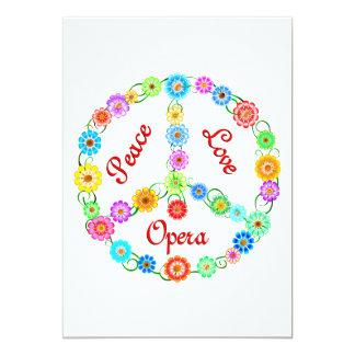 Peace Love Opera 13 Cm X 18 Cm Invitation Card