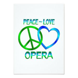 Peace Love OPERA Invitations