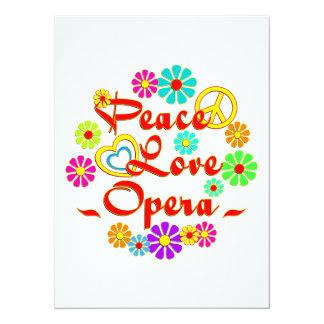 PEACE LOVE Opera 14 Cm X 19 Cm Invitation Card