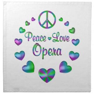 Peace Love Opera Napkin