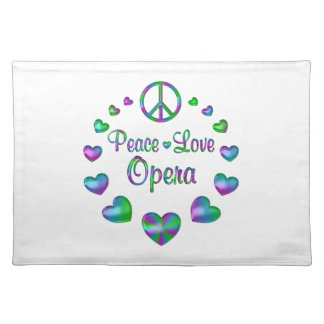 Peace Love Opera Placemat