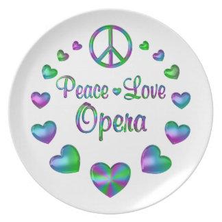 Peace Love Opera Plate