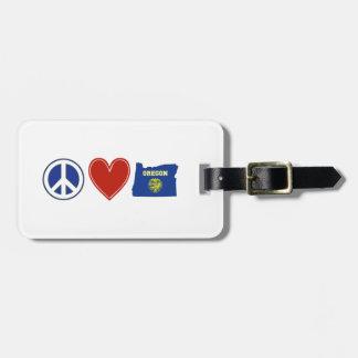 Peace Love Oregon Luggage Tag