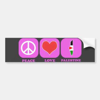 Peace Love Palestine Bumper Sticker