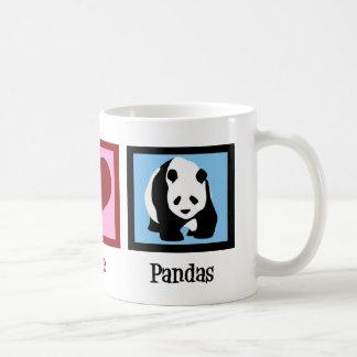 Peace Love Pandas Coffee Mug