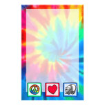 Peace, Love, Pandas Personalized Stationery