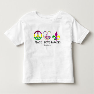 PEACE LOVE PARADES Mardi Gras Shirt