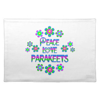 Peace Love Parakeets Placemat