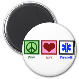 Peace Love Paramedic Magnet