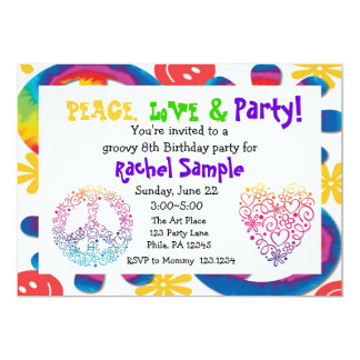 Peace, Love & Party Invitation
